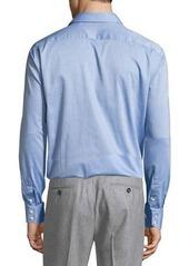 Neiman Marcus Classic-Fit Regular-Finish Dot-Print Sport Shirt
