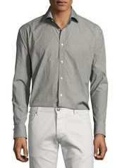 Neiman Marcus Classic-Fit Regular-Finish Dot-Print Sport Shirt