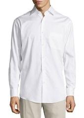 Neiman Marcus Classic-Fit Regular-Finish Jacquard Sport Shirt