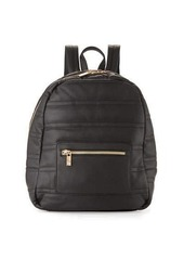 Neiman Marcus Classic Quilted Faux-Leather Backpack