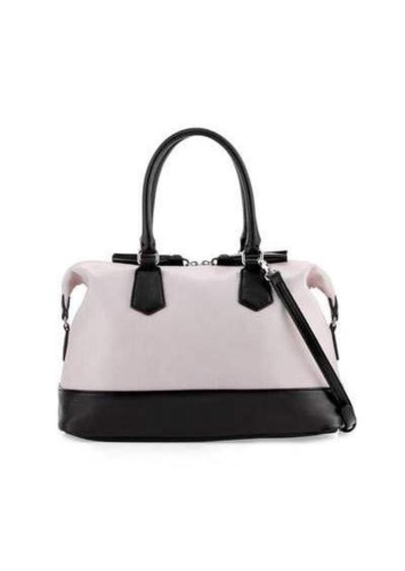 Neiman Marcus Colorblock Tassel Satchel Bag