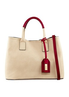 Neiman Marcus Colorblock Top Handle Satchel Bag