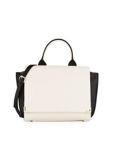 Neiman Marcus Colorblock Winged Flap Satchel Bag