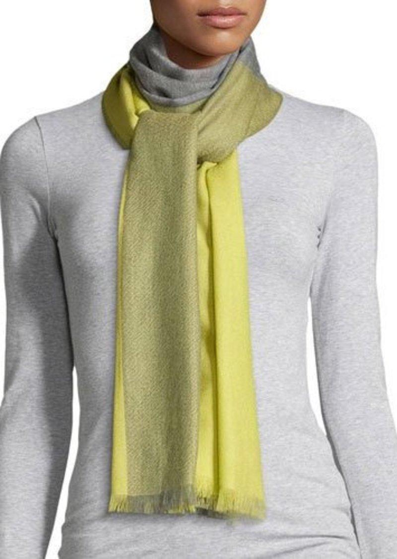 Neiman Marcus Colorblock Wool Scarf
