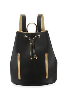 Neiman Marcus Contrast Drawstring Backpack