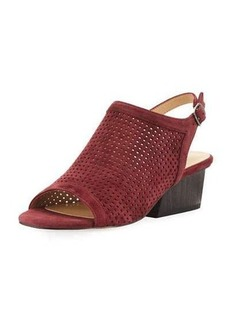 Neiman Marcus Corrie Perforated Slingback Sandal