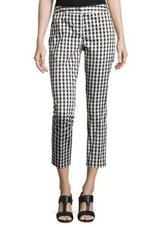 Neiman Marcus Cotton-Blend Skinny Pants