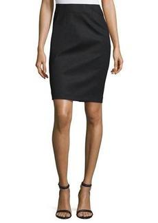 Neiman Marcus Crepe Pencil Skirt