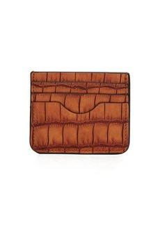 Neiman Marcus Crocodile-Embossed Card Case