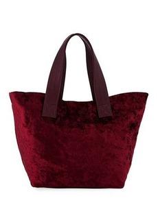 Neiman Marcus Crushed Velvet Tote Bag