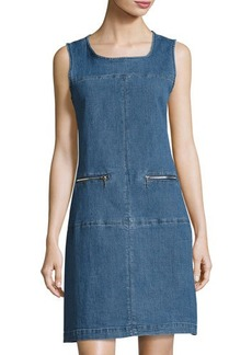 Neiman Marcus Denim Shift Dress