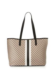 Neiman Marcus Diagonal Dots Large Tote Bag
