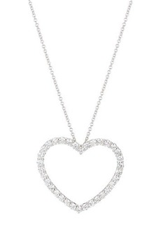 Neiman Marcus Diamonds 14k Diamond Heart Pendant Necklace