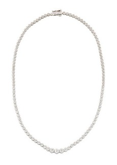 Neiman Marcus Diamonds 14k White Gold Diamond Tennis Necklace