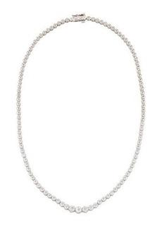 Neiman Marcus Diamonds 14k White Gold Diamond Tennis Necklace