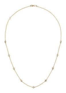 Neiman Marcus Diamonds 14k Yellow Gold By-The-Yard Floating Diamond Station Necklace