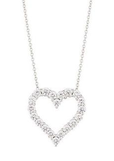 Neiman Marcus Diamonds 18k Diamond Heart Pendant Necklace