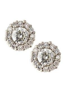 Neiman Marcus Diamonds 18k Diamond Stud Plus Earrings