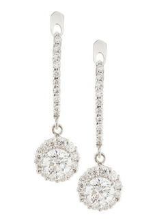 Neiman Marcus Diamonds Cushion-Cut Diamond Dangle Drop Earrings