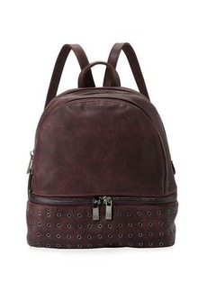 Neiman Marcus Distressed Grommet-Trim Backpack