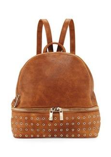 Neiman Marcus Distressed Grommet-Trim Backpack