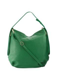Neiman Marcus Dollaro Pebbled Leather Hobo Bag