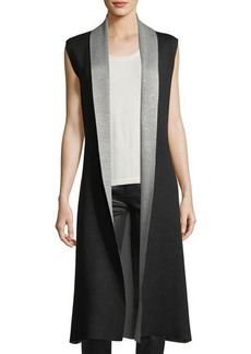 Neiman Marcus Double Knit Duster Vest