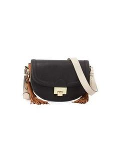 Neiman Marcus Double-Tassel Saddle Bag