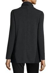 Neiman Marcus Drawstring Cowl-Neck Top