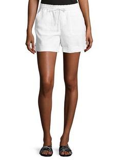 Neiman Marcus Drawstring Linen Shorts