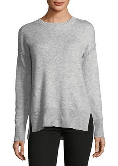 Neiman Marcus Drop-Shoulder Sweater
