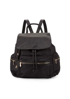 Neiman Marcus Elizabeth Mixed-Media Nylon Backpack