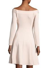 Neiman Marcus Embellished Off-the-Shoulder Dress