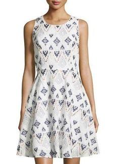 Neiman Marcus Embroidered Tank Dress