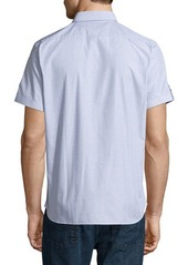Neiman Marcus End On End Short-Sleeve Shirt