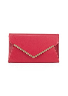 Neiman Marcus Envelope Saffiano Clutch Bag