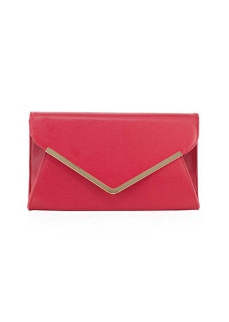 Neiman Marcus Neiman Marcus Envelope Saffiano Clutch Bag  93647b15f376f