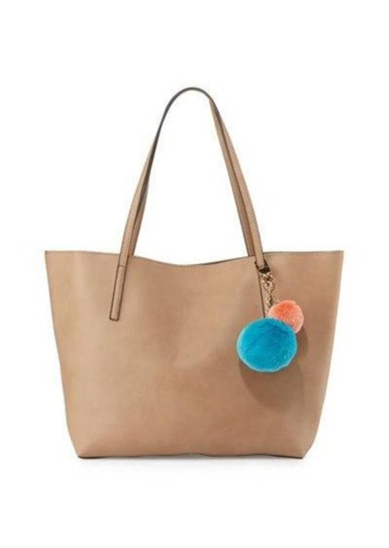 Neiman Marcus Evelyn Pompom Tote Bag