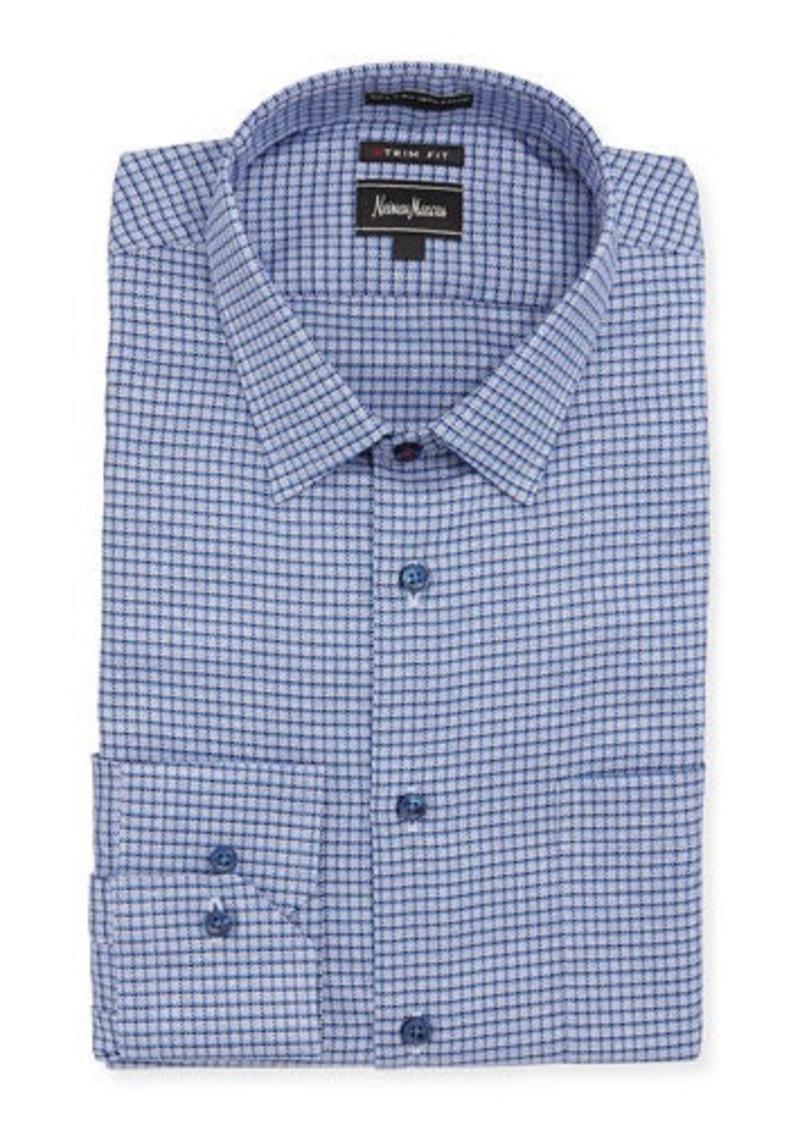 Neiman marcus neiman marcus extra trim fit micro check for Extra trim fit dress shirt