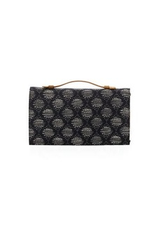 Neiman Marcus Fabric Foldover Clutch Bag