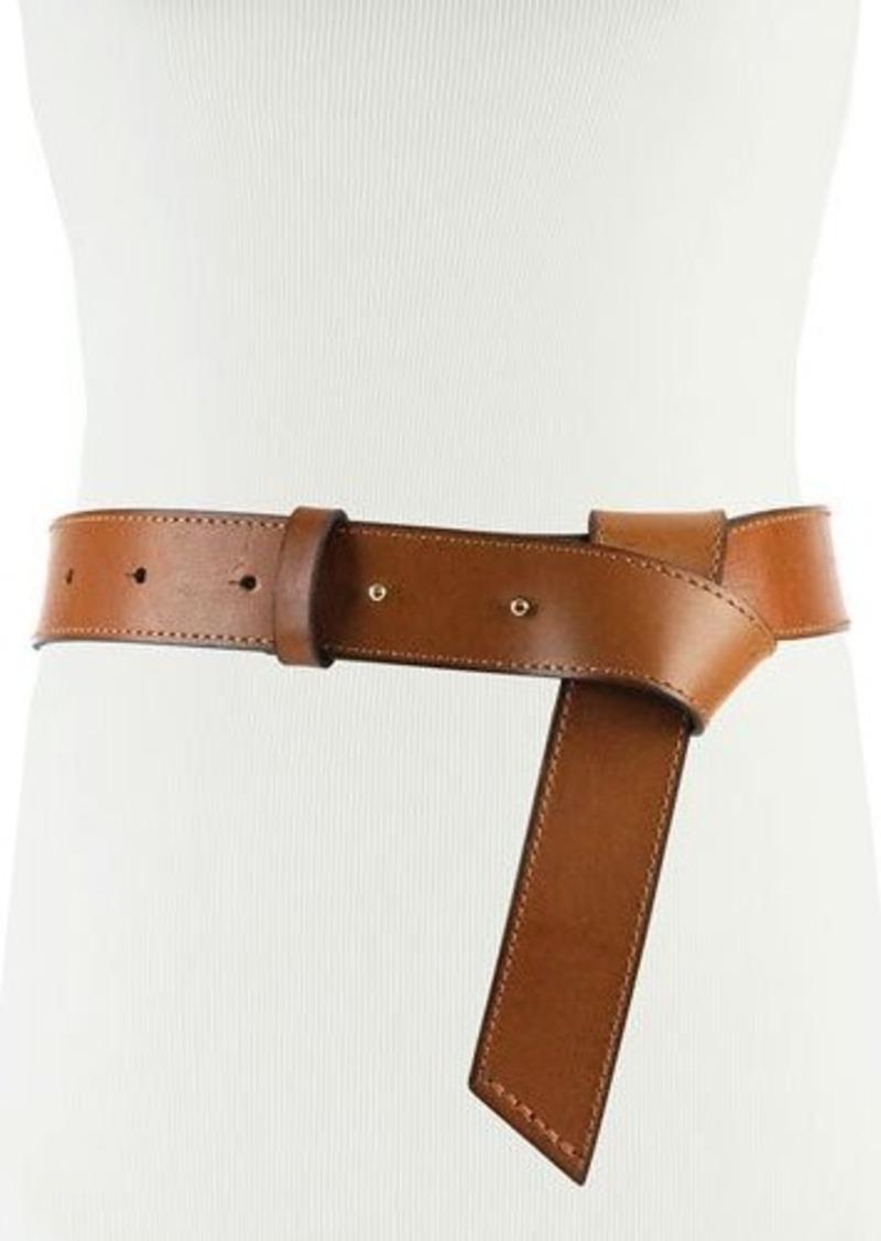 Neiman Marcus Faux Flip-Twist Leather Belt