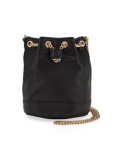 Neiman Marcus Faux-Leather Chain Bucket Bag