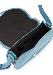 Neiman Marcus Faux-Leather Saddle Bag