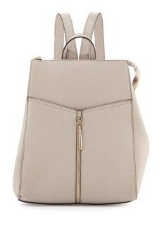 Neiman Marcus Faux-Leather Zip-Top Backpack