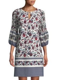 Neiman Marcus Floral-Print Shift Dress