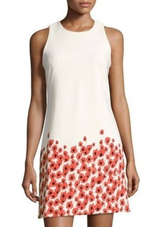 Neiman Marcus Floral-Print Sleeveless Shift Dress