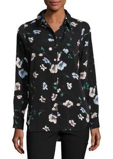 Neiman Marcus Floral-Print Utility Shirt