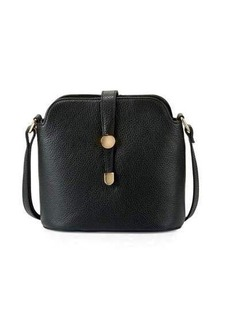 Neiman Marcus Framed Dome Leather Crossbody Bag
