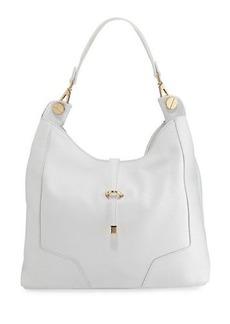 Neiman Marcus Framed Leather Hobo Bag