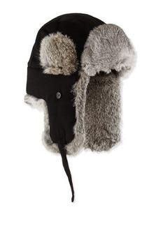 Neiman Marcus Fur-Trim Trapper Hat